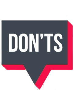 don'ts van contentmarketing