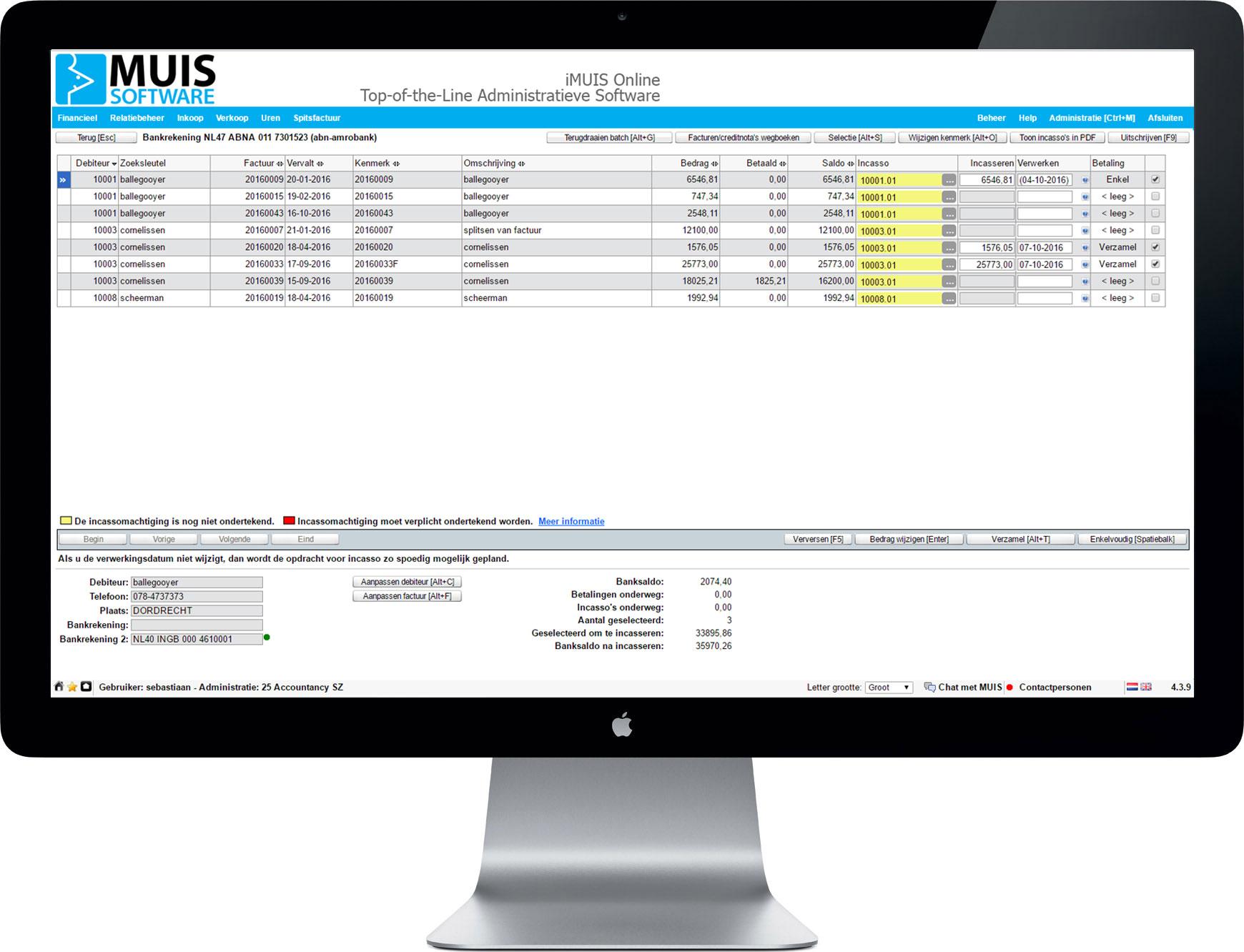 In iMUIS Online Incasso kun je het incassotraject uitstekend regelen