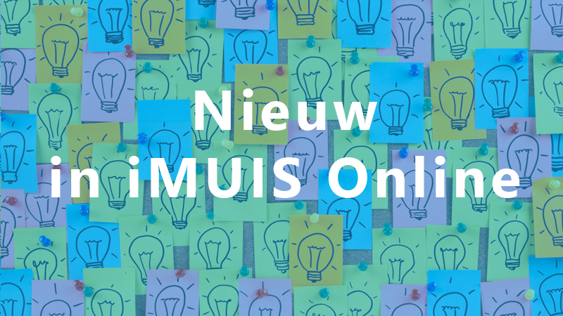 Nieuw in iMUIS Online